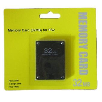 32mb memory card for sony ps2, playstation 2, ps2 slim retail pack black