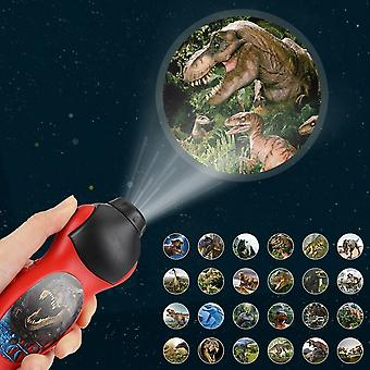 Torch Flashlight Projector With Dinosaur Pattern Slide-kids Educational