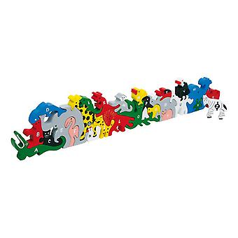 Legler Animal Letters and Numbers Wooden Plug Puzzle Kid's Toy (2841)
