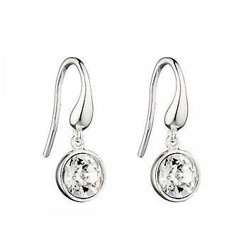 Elemente Silber klar Kristall Swarovski Tropfen Ohrringe E5723C