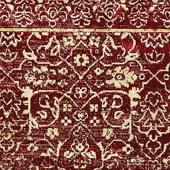 """23"""" x 39"""" Red Viscose Accent Rug"""