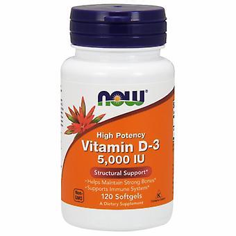 Nyt Elintarvikkeet D3-vitamiini, 5000 IU, 120 softgeliä