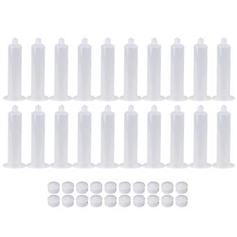 20x 30CC Adhesive Liquid Plastic Dispenser Industrial Syringe Barrel