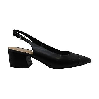 Bar III Women-apos;s Chaussures Tenley Leather Pointed Toe SlingBack Classic Escarpins