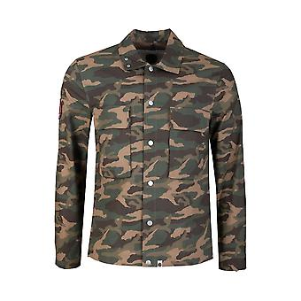 Pretty Green Likeminded Camo Overshirt - Multi Coloured