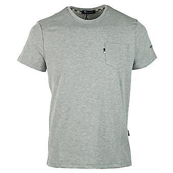 Aquascutum Sleeve Logo Grau T-Shirt