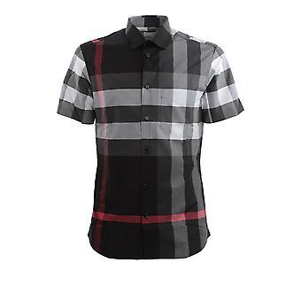 Burberry 8025607a1008 Heren's Zwart Katoenen Shirt