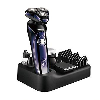 Wet Dry 4d Electric Shaver Beard Hair Trimmer Machine, Lcd Display