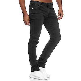 Men's Jeans Slim Trousers Denim Pants Regular Waist Classic Used Washed Bottoms