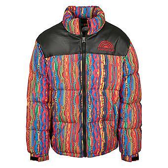 Southpole Men's Winter Jacket Multicolored Pattern Jacket