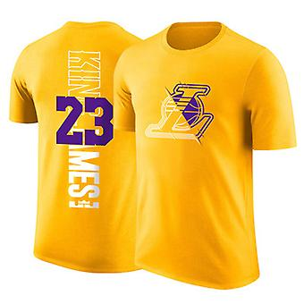 LeBron James Los Angeles Lakers No.23 Basketbal Geel T-shirt Sports Top DXG013