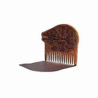 Pente de barba de madeira Millennium Falcon