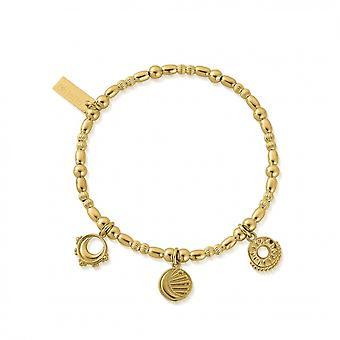 ChloBo Gold Triple Skies Bracelet GBMULSKIES