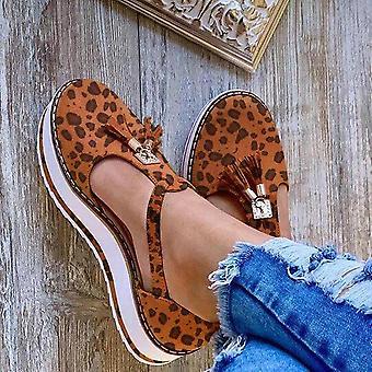 Sommer Schnalle Strap Ferse flache Plattform Schuhe Casual Schuhe Frau Damen Plus
