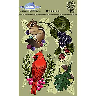 The Card Hut Berries Clear Stamps