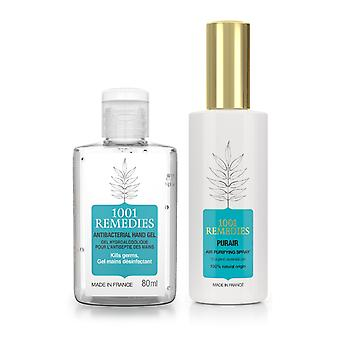 Safety kit  - air purifying room-spray & hand sanitiser made in france, vegan & cruelty free
