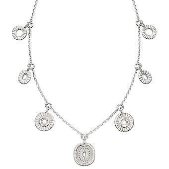 Elemente Silber Bali Stil Charm Halskette - Silber