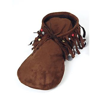 Bristol Novelty Womens/Ladies Hippie Leather Moccasins