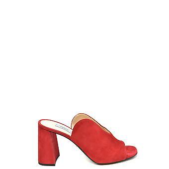 Prada Ezbc021063 Damen's Rot Wildleder Sandalen