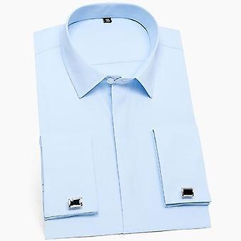 Men & apos;s قميص اللباس, غطت Placket الرسمية تناسب الأكمام الطويلة