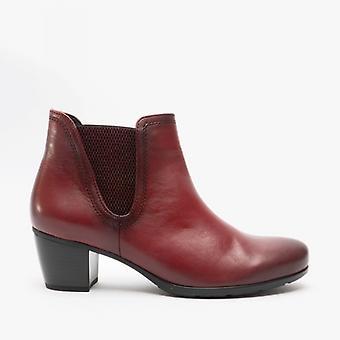Gabor البيئية السيدات الجلود الكاحل الأحذية الأحمر الداكن