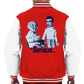 Supercar Mike And Professor Popkiss Men's Varsity Jacket