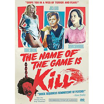 Name of the Game Is Kill [DVD] USA import