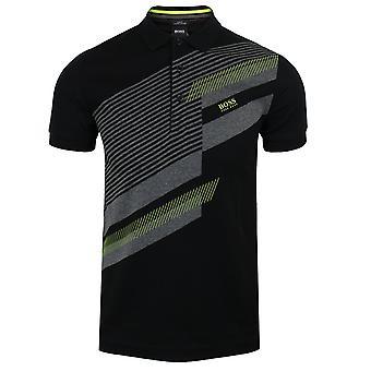Hugo boss men's black paule 10 polo shirt