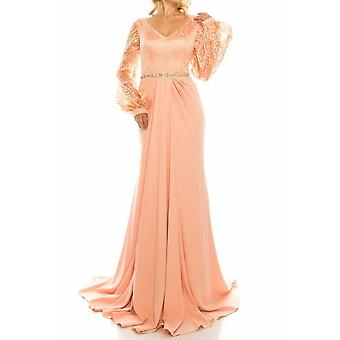 Mesh Jacquard Evening Gown