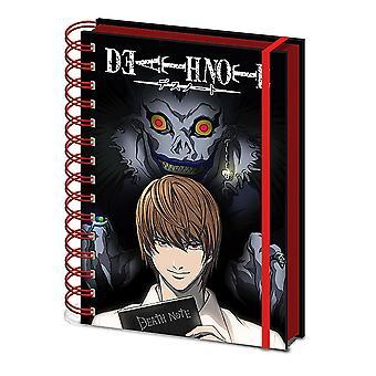Death Note Notebook DIN A 5 Shadow Hardcover med spiralbinding, 180 sider foret, med elastik.
