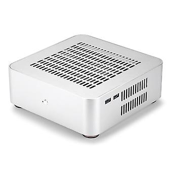 Mini Itx Computer Case Aluminum Pc Case Chassis Htpc With Power Supply