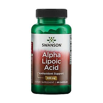Alpha Lipoic Acid, 600mg 60 capsules