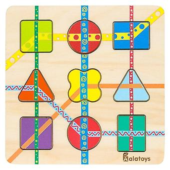 "Alatoys Wooden  Puzzles ""Lines"""