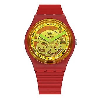 Swatch Gr185 Retro-rosso Röd Silikon Klocka