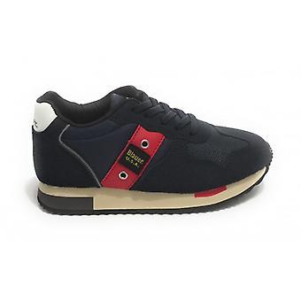 Shoes Blauer Sneaker Dash In Ecosuede/ Nylon Blue Navy Z21bu02