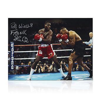 Frank Bruno firmó la foto del boxeo: Luchando contra Iron Mike Tyson