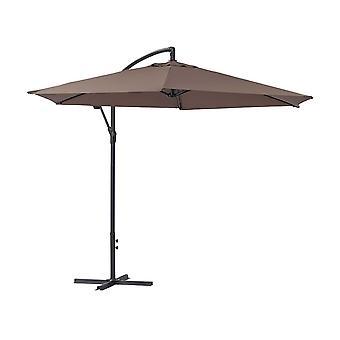 Parasol de jardín exéntrico en aluminio ILIOS - Circular - Ø 3 m - Topo
