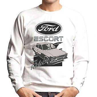 フォードエスコートクラシックモーターズロゴメン&アポス;sスウェットシャツ