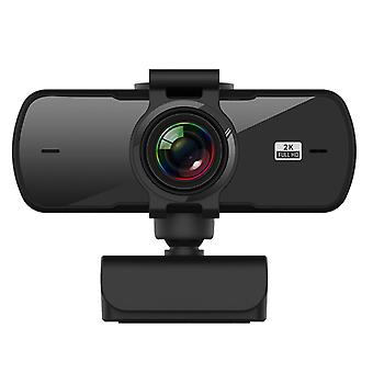 Usb webcam 2k high-definition computer camera conferentie cam met microfoon driver