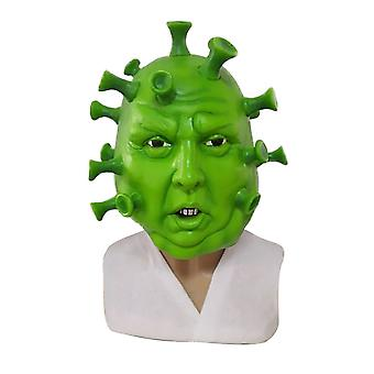 Ironic Head Green Virus Latex Mask Party Stage Cosplay Props