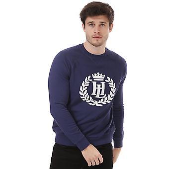 Henri Lloyd Big Logo Crew Sweatshirt för män i blått