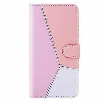 Elegante dreifarbige Folio Ledertasche für Samsung Galaxy A51 5G - Rose