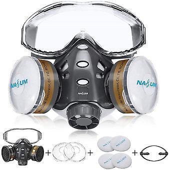 Halb Gesicht Abdeckung Wiederverwendbare, Serie Grau 8200, mit Schutzbrille , Stirnbänder,