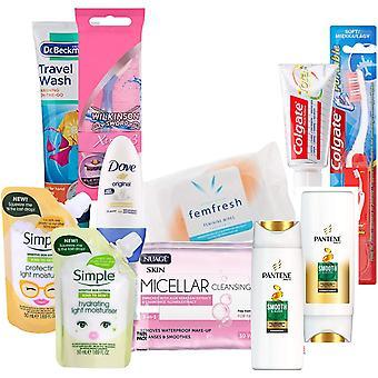 Gerui Mini Toiletries Travel Hospital Set TSA Approved! Liquids Prepacked for Airport Security.