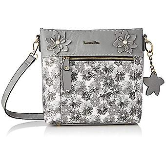 Laura Vita 4234, Shoulder strap, Bag with Handle. Woman, Grey, Medium