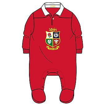 British & Irish Lions Rugby Baby Sleepsuit  | Red | 2021 | 3-6 Months