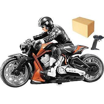 Control remoto Stunt Moto 360 grados Rotación deriva Car Racing Motorcycle Toy modelo (Naranja)