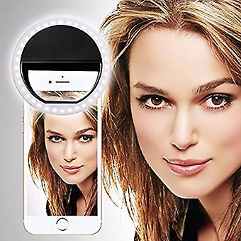 ZTE Citrine LTE (Black) Clip on Selfie Ring Light with 36 LED For Smart Phone Camera Round Shape, By I-Tronixs