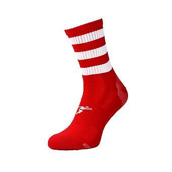 Präzision Pro Hooped GAA Mid Socken Junior rot/weiß - UK Größe 3-6