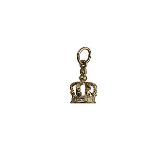 9ct Gold 12x8mm Royal Crown riipus tai charmia